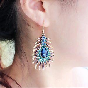 Peacock feather piercing Earrings
